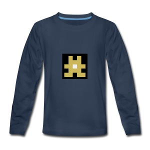 YELLOW hashtag - Kids' Premium Long Sleeve T-Shirt