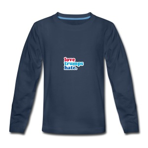 Love Trumps Hate - Kids' Premium Long Sleeve T-Shirt