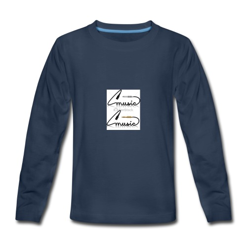 conectores vector musica - Kids' Premium Long Sleeve T-Shirt