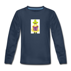 Little ghost going trick or treating - Kids' Premium Long Sleeve T-Shirt