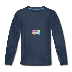 Rainbow Tiger Design Cases - Kids' Premium Long Sleeve T-Shirt