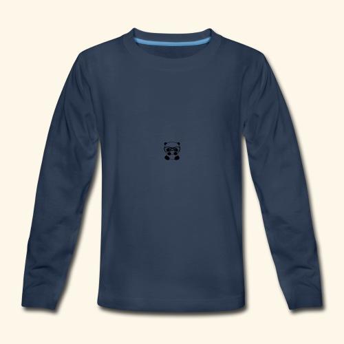 Glass wearing panda - Kids' Premium Long Sleeve T-Shirt