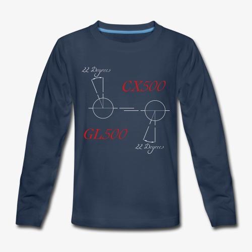 CX500 and GL500 - 22 degree twist - Kids' Premium Long Sleeve T-Shirt