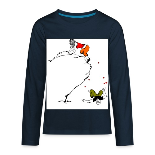 Lady Climber - Kids' Premium Long Sleeve T-Shirt