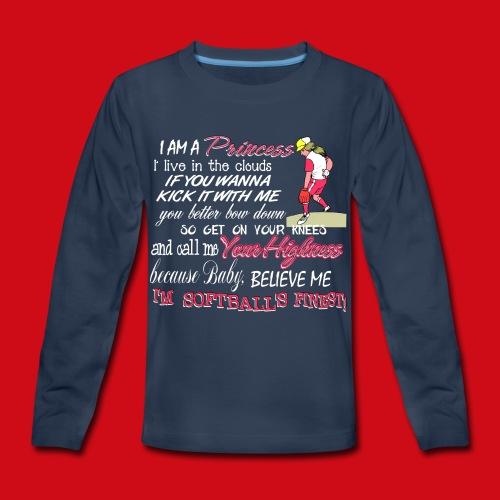 Softballs Finest - Kids' Premium Long Sleeve T-Shirt