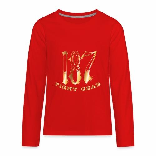 187 Fight Gear Gold Logo Street Wear - Kids' Premium Long Sleeve T-Shirt