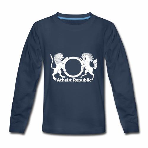 Atheist Republic Logo - White - Kids' Premium Long Sleeve T-Shirt