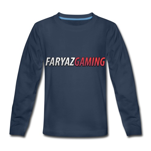 FaryazGaming Text - Kids' Premium Long Sleeve T-Shirt