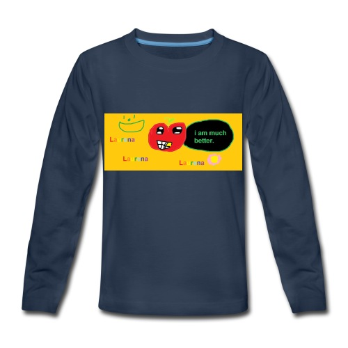 pechy vs apple - Kids' Premium Long Sleeve T-Shirt