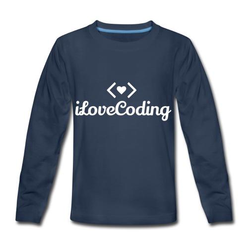 I Love Coding - Kids' Premium Long Sleeve T-Shirt