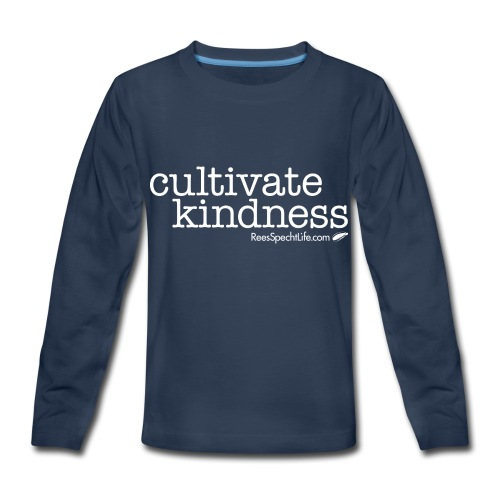 Cultivate Kindness White Logo Women's Shirt - Kids' Premium Long Sleeve T-Shirt
