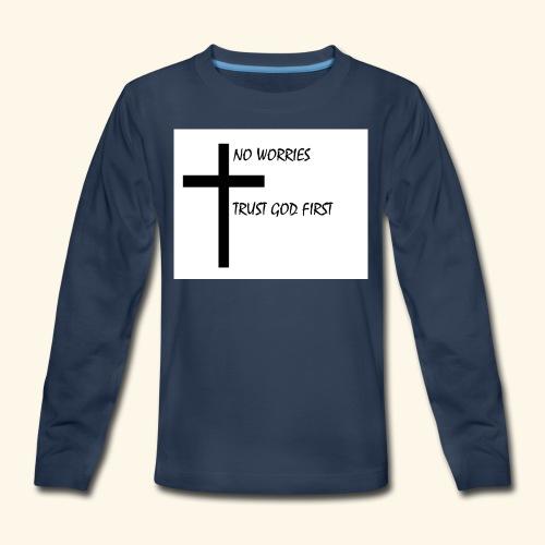 No Worries - Kids' Premium Long Sleeve T-Shirt