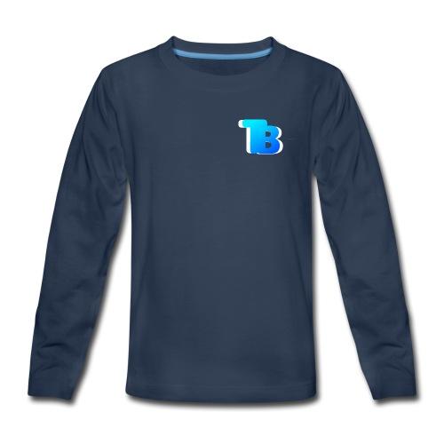 Trublu Overlapping letter Design - Kids' Premium Long Sleeve T-Shirt