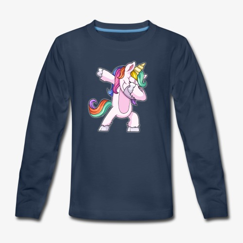 DABBING UNICORN Kid - Kids' Premium Long Sleeve T-Shirt