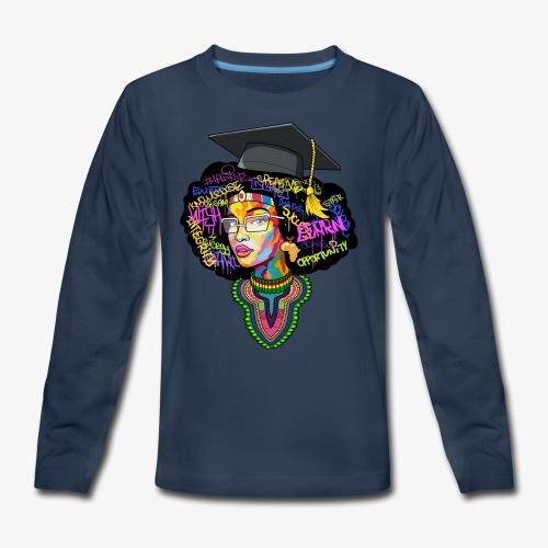 Smart Black Woman - Kids' Premium Long Sleeve T-Shirt