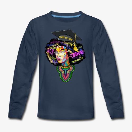 Smart Graduation Woman - Kids' Premium Long Sleeve T-Shirt