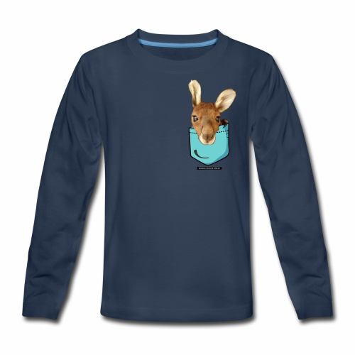 Kangaroo in a Pocket - Kids' Premium Long Sleeve T-Shirt