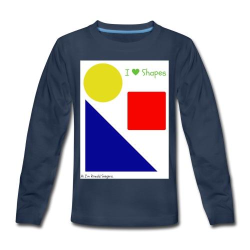 Hi I'm Ronald Seegers Collection-I Love Shapes - Kids' Premium Long Sleeve T-Shirt