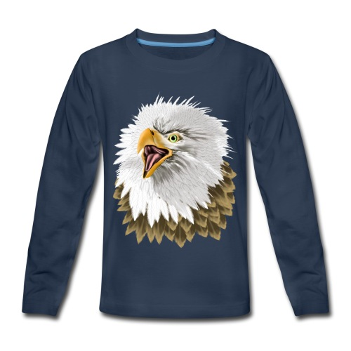 Big, Bold Eagle - Kids' Premium Long Sleeve T-Shirt