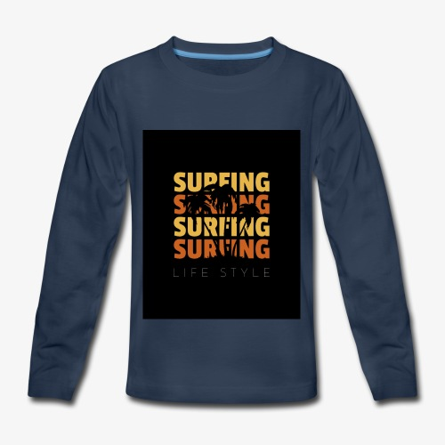 Surfing Life Style - Kids' Premium Long Sleeve T-Shirt