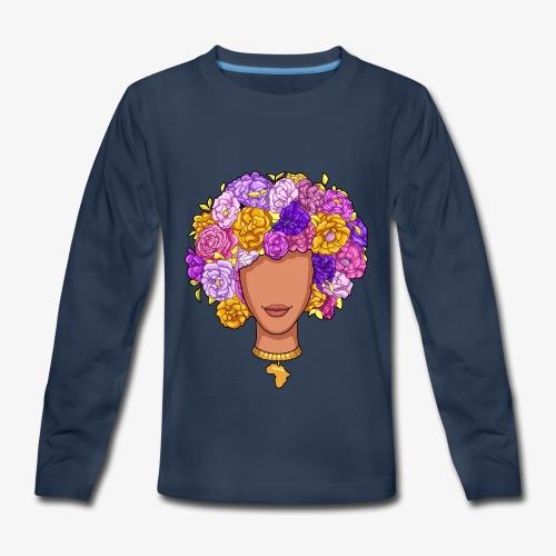 Flower Woman - Kids' Premium Long Sleeve T-Shirt