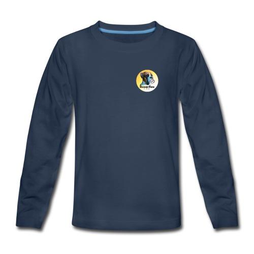 Boxer Rex logo - Kids' Premium Long Sleeve T-Shirt
