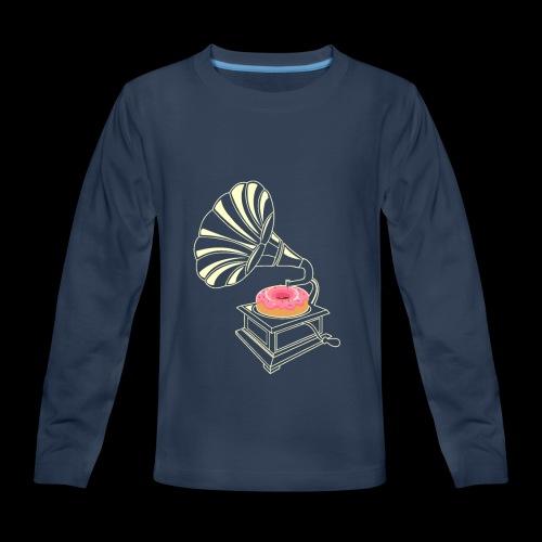 Donut Stop the Music | Sweet Gramophone - Kids' Premium Long Sleeve T-Shirt