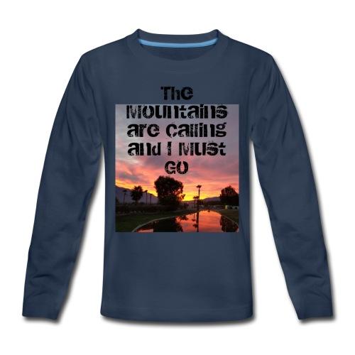 mountains - Kids' Premium Long Sleeve T-Shirt