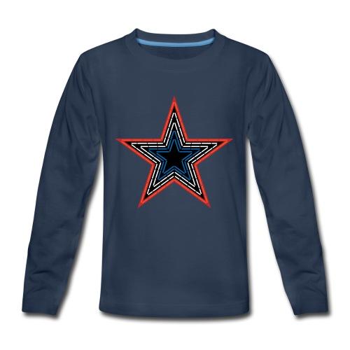 Roanoke Virginia Pride Mill Mountain Star - Kids' Premium Long Sleeve T-Shirt
