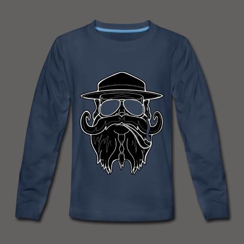 OldSchoolBiker - Kids' Premium Long Sleeve T-Shirt