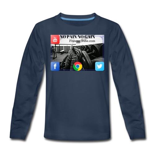gym no pain no gain 1 - Kids' Premium Long Sleeve T-Shirt