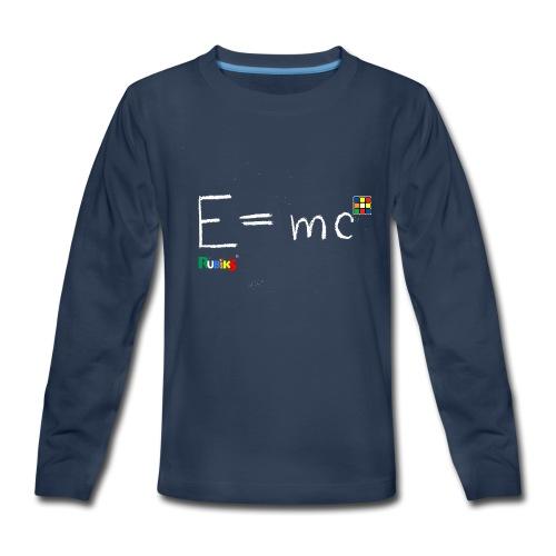 Rubik's Cube Theory Of Relativity Formula - Kids' Premium Long Sleeve T-Shirt