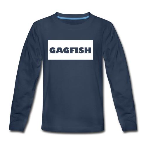GAGFISH WIGHT LOGO - Kids' Premium Long Sleeve T-Shirt