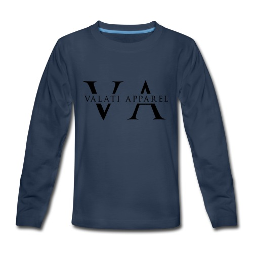VA Strikethrough - Kids' Premium Long Sleeve T-Shirt