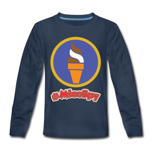 Boardwalk Ice Cream Swirl Explorer Badge - Kids' Premium Long Sleeve T-Shirt