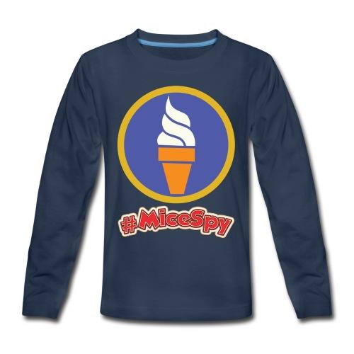 Boardwalk Ice Cream Vanilla Explorer Badge - Kids' Premium Long Sleeve T-Shirt