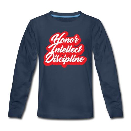 Honor Intellect Discipline - Kids' Premium Long Sleeve T-Shirt