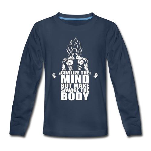 Dbz C Shirt - Kids' Premium Long Sleeve T-Shirt
