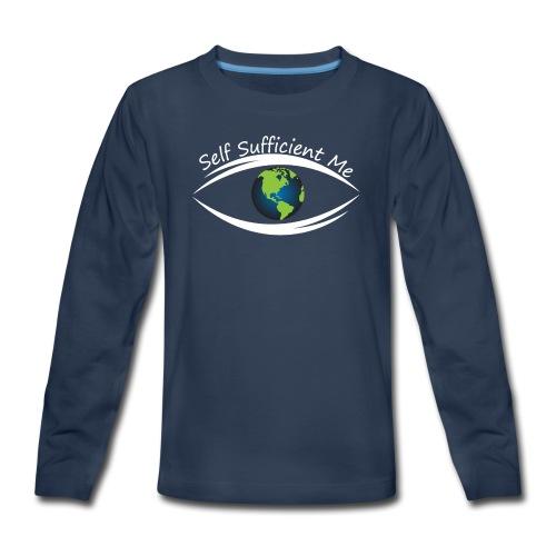 Self Sufficient Me Logo Large - Kids' Premium Long Sleeve T-Shirt
