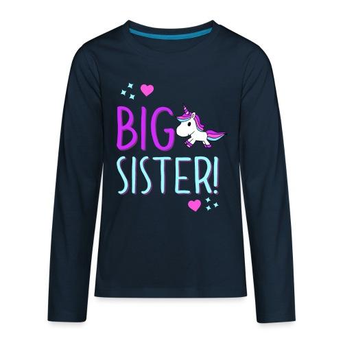 Big Sister Unicorn Design! - Kids' Premium Long Sleeve T-Shirt