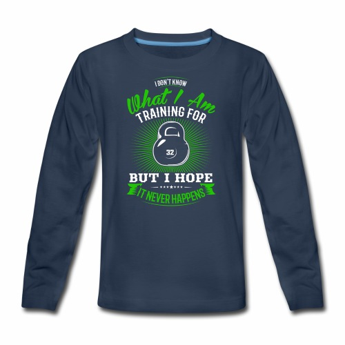 Workout Training - Kids' Premium Long Sleeve T-Shirt