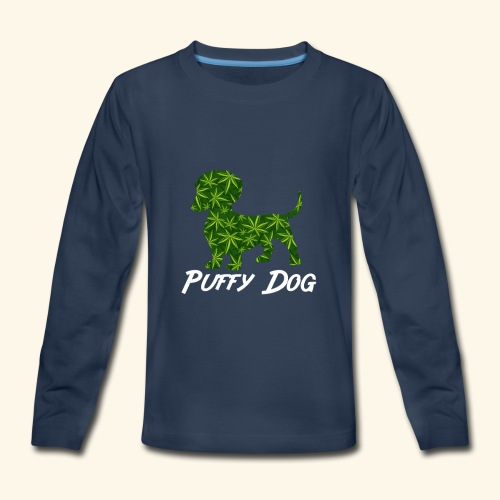 PUFFY DOG - PRESENT FOR SMOKING DOGLOVER - Kids' Premium Long Sleeve T-Shirt