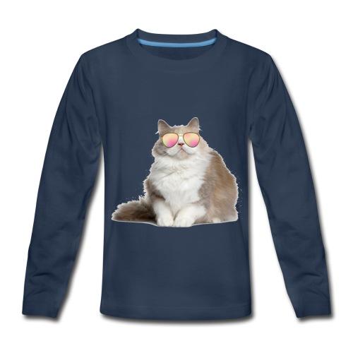 COOL CAT - Kids' Premium Long Sleeve T-Shirt