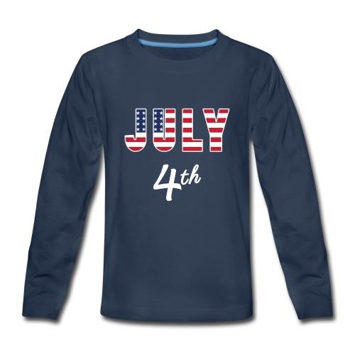 July 4th - Kids' Premium Long Sleeve T-Shirt