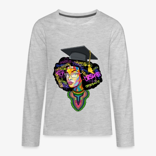 Black Educated Queen School - Kids' Premium Long Sleeve T-Shirt
