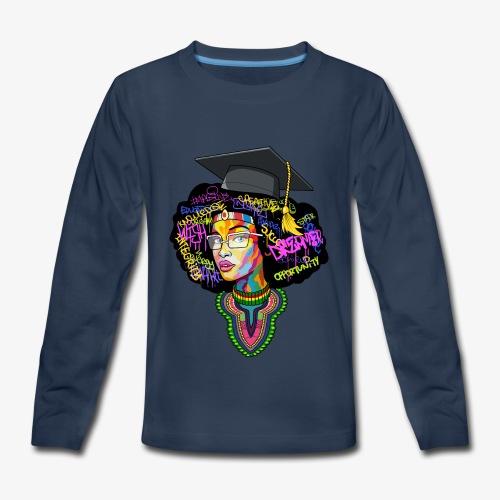 Black Educated Queen School - Kids' Premium Long Sleeve T-Shirt