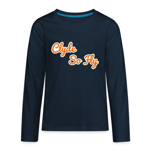 Clyde So Fly Classic - Kids' Premium Long Sleeve T-Shirt