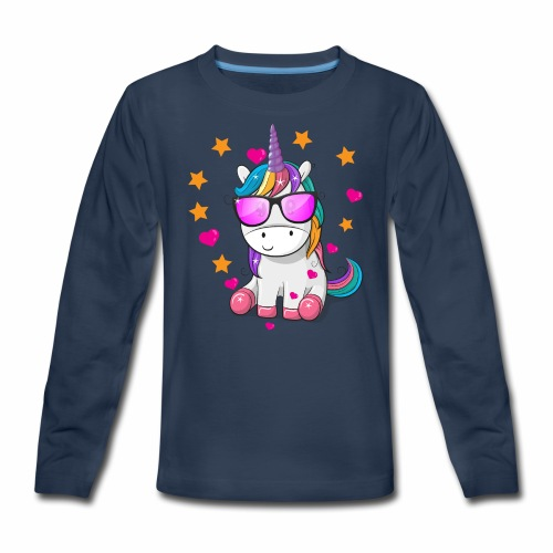 Valentine's Day T-Shirt Gift for Unicorn lovers - Kids' Premium Long Sleeve T-Shirt