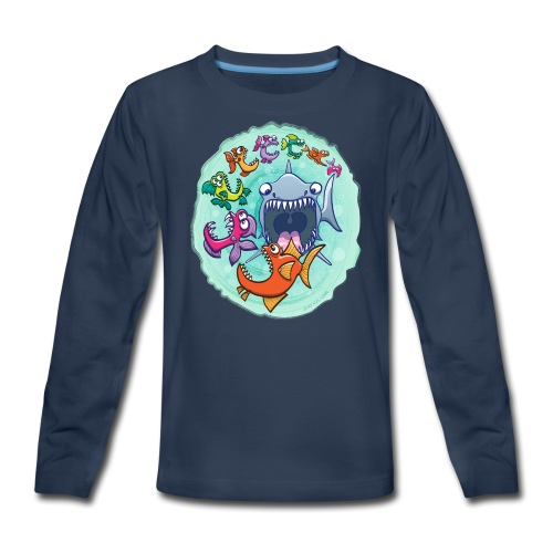 Big fish eat little fish and vice versa - Kids' Premium Long Sleeve T-Shirt