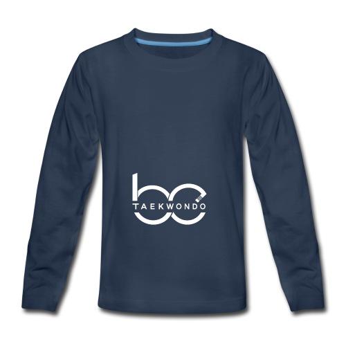 Logo emblem WHITE no bg - Kids' Premium Long Sleeve T-Shirt